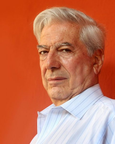 Peruvian novelist and politician Mario Vargas Llosa