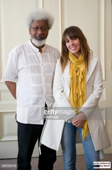 Nigerian novelist, poet and dramatist Wole Soyinka and his protégée Tara June Winch