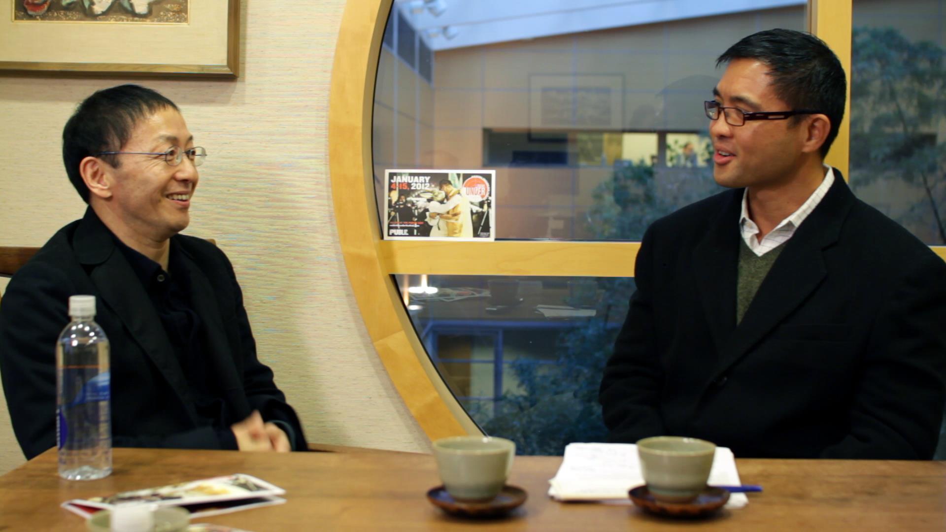 Hideki Noda and Randy Gener in conversation at the Japan Society