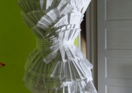 """Designer Rosemarie McKelvey's paper dress for """"Extremely Public Displays of Privacy"""" 