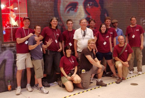 The USITT team from Montana outside the USA exhibit | Photo by Randy Gener