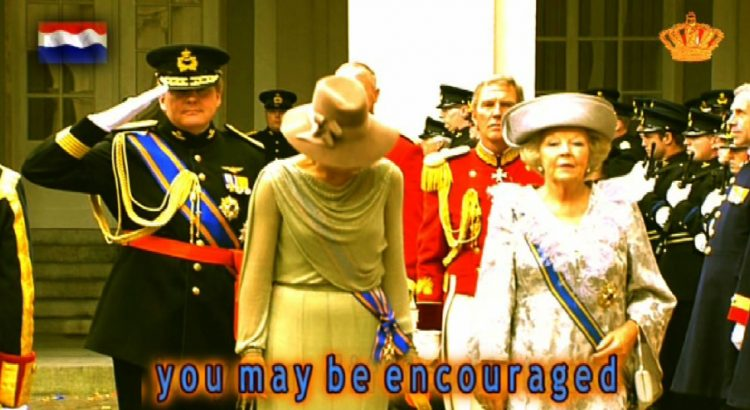 """Dutch queen Beatrix in """"Troonede"""" in """"The News"""" by JacobTV"""