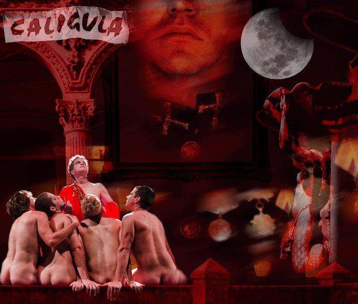 "Poster for Teatro El Público of Havana's ""Caligula"""