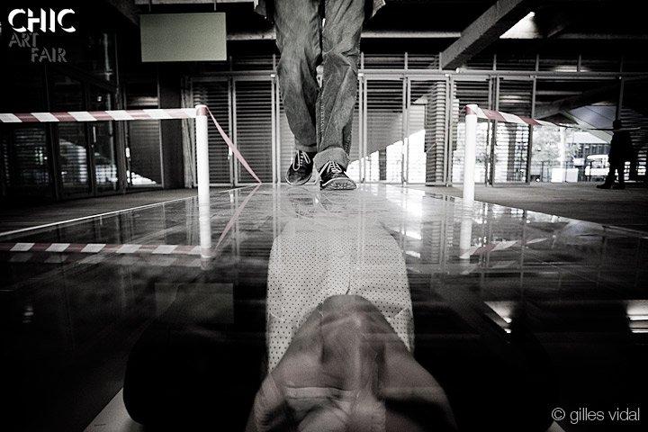 "Walk over Igor Josifov in ""2-Dimensional"" | Courtesy of Queer NY website"