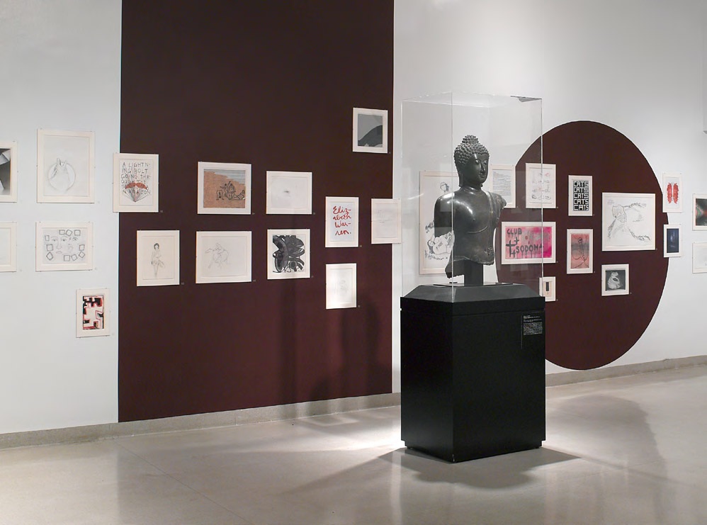 Installation view: Ulrike Müller, Herstory Inventory, at the Brooklyn Museum, June 29–September 9, 2012 | Courtesy of  Barbara Schroeder