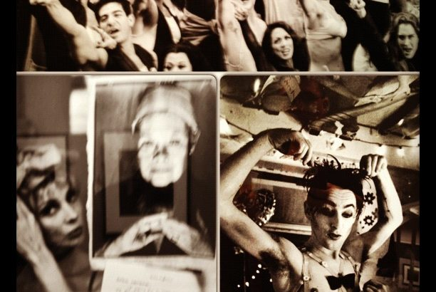 """Collage of Rivka S. Katvan photographs in """"Broadway Behind the Curtain"""" at Soho Photo Gallery in NYC   Photo by Randy Gener"""