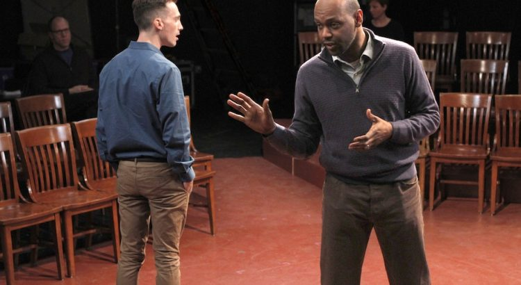 """Brandt Adams and Godfrey L. Simmons, Jr. in """"Dispatches from (A)mended America""""   Photo by Steven Boling"""
