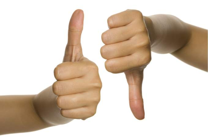 Thumbs Up Thumbs Down up